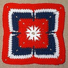 Patriotic Jewel Granny Square. Designed by Kimberly Andrew. Copyright © July 5, 2001. Dedicated to freedom and the USA ...