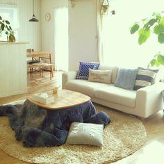 ソファが無印 いつもありがとうございます♡/フォロワーさま4000人?!( 〃▽〃)/こたつ…などのインテリア実例 - 2016-01-20 10:19:41 | RoomClip(ルームクリップ) Japanese Style House, Japanese Home Decor, Japanese Interior, Apartment Interior, Room Interior, Interior Design, Home Decor Furniture, Living Room Furniture, Japanese Living Rooms