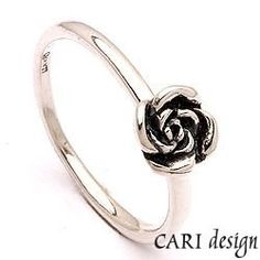 CARI, collecting ring in silver (oxideret sterlingsølv)