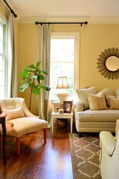 17 Best yellow walls living room images | Yellow walls ...