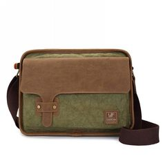 Castle Rock Canvas and pull-up Leather Shoulder Messenger Bag Traveling Laptop Bags ** You can find more details by visiting the image link.