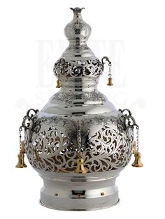 Silver Centerpiece, Centerpieces, Torah, Crowns, Objects, Jar, Sterling Silver, Antiques, Wood