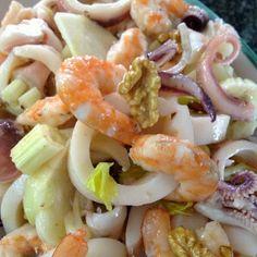 Pasta Salad, Shrimp, Fish, Meat, Ethnic Recipes, Calamari, Mamma, Pane, Detox