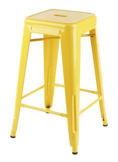 Kitchen bar stools - Replica Xavier Pauchard Tolix Stool (Powdercoated Silver, Yellow and White) - Matt Blatt Metal Industrial, Industrial Dining, Dining Stools, Bar Stools, Metal Stool, Stylish Kitchen, Small Space Living, Living Area, Living Room