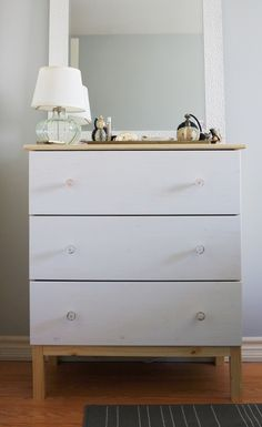 Sarah's Modern Country Cottage Bedroom Three Drawer Dresser, Dresser As Nightstand, Modern Farmhouse Design, Modern Country, Country Cottage Bedroom, Luxurious Bedrooms, Luxury Bedrooms, Malm, Bedroom Furniture