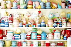 whimsical colorful pottery...