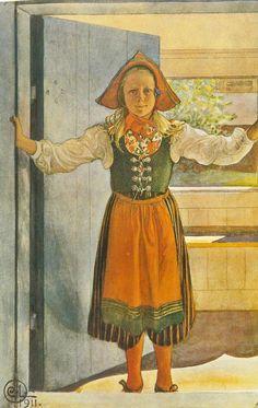 Carl Larsson - Rosalind 1911 - Folkdräkt - Designed by Karin Larsson, 1910