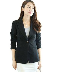 My Wonderful World Women's Notch Collar One Button Casual Blazer Small Black My Wonderful World Blazer Coat Jacket http://www.amazon.com/dp/B01688FJSA/ref=cm_sw_r_pi_dp_0njfwb12DTNKN