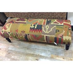 Another amazing piece. This upholstered bench was super comfy and has such great aztec inspired fabric pieced together. Perfect foot of the bed, or underneath a window. $249.99. #homegoodsobsessed #homegoods #uws #nyc #homegoodsfind #apartmentliving #interiors #decor #decorate #bedroom #familyroom #furniture #bench (at HomeGoods)