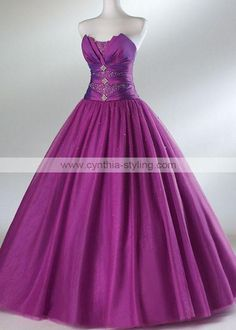 Purple gown. Too simple..