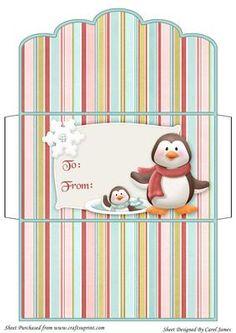 Singing Penguin Christmas Money Wallet on Craftsuprint designed by ...