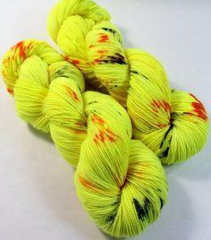 Hand Dyed Sock Yarn - SW Sock 80/20 - Superwash Merino Nylon - 400 yards - Venom