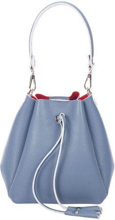 Heavenly Leather Bucket Bag