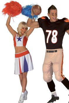 Footballeur et cheerleader