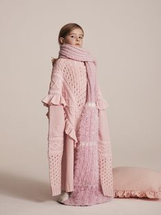 """""""I love what millenials have done with pink"""" Elsie, 5 Photographed by Toby Coulson. Oversized Jumper, Prince And Princess, Sustainable Clothing, Mini Me, Contemporary Fashion, Playing Dress Up, Kids Wear, Wardrobes, My Wardrobe"""