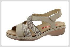 Komfort Damenlederschuh Piesant 6813 sandal schuhe herausnehmbaren  einlegesohlen bequem breit - Damen pumps (*Partner