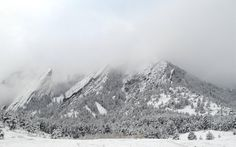 Nothing is as magical as and the Flatirons covered in snow. Boulder Flatirons, Mountain Sunset, Boulder Colorado, Winter Beauty, Simple Things, Oh The Places You'll Go, Rocky Mountains, Bouldering, Us Travel