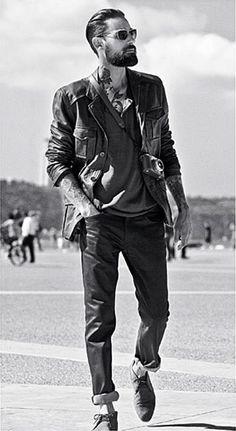 #leather #beard