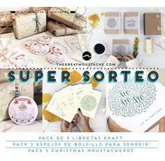 ÚLTIMO DÍA para llevarte todas nuestras cosas del SUPER-SORTEO!! Suerte a todos!