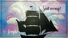 """""""Sail away"""" Pink sky and sailing ship acrylic painting on canvas, Clouds paintings Acrylic Tutorials, Pink Sky, Sailing Ships, Painting & Drawing, Art Projects, Mermaid, Paintings, Canvas, Drawings"""