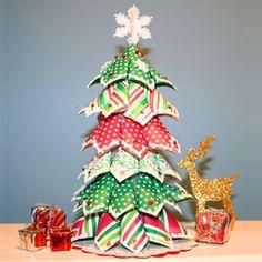 Arbol de navidad muy orginal. Hecho con servilletas. te encantrá - Decoración y piñatas - Fiestas de cumple para niños - Charhadas.com