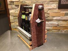 Reclaimed wood six pack beer carrier