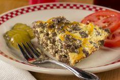 Cheeseburger Pie   EverydayDiabeticRecipes.com