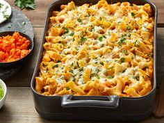 Unique flavors abound in our buffalo chicken pasta bake recipe. Combine blue cheese pasta with tender chicken tonight! Buffalo Chicken Pasta Bake Recipe, Baked Chicken Pasta Recipes, Great Pasta Recipes, Barilla Recipes, Easy Recipes, Blue Cheese Pasta, Cheese Pasta Bake, Mac Cheese, Baked Mostaccioli