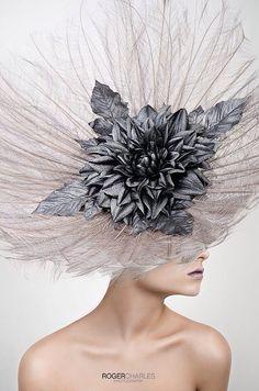 •❈• Mode Costume, Crazy Hats, Kentucky Derby Hats, Fancy Hats, Wearing A Hat, Fascinator Hats, Millinery Hats, Love Hat, Head Accessories