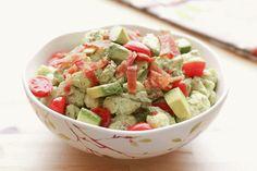 Bacon Avocado Tomato Pasta Salad Recipe by Barefeet In The Kitchen