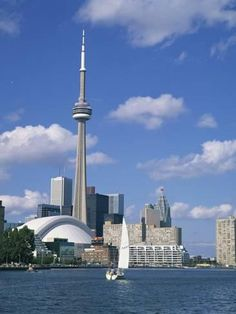 Photographic Print: C.N.Tower and the Toronto Skyline, Ontario, Canada, North America by Rainford Roy : 24x18in
