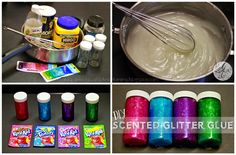 "Easy DIY Scented Glitter Glue | A ""REAL"" Housewife and Mommy"