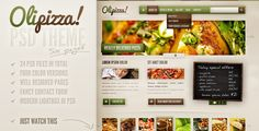 Olipizza - Really tasty PSD theme in 4 colors . Olipizza has features such as Layered: Yes, Minimum Adobe CS Version: CS3, Pixel Dimensions: 1280x1280