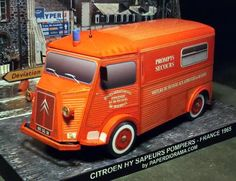 Citroen HY 1965 Fire Brigade VSAB Paper Model - by Paper Diorama - == -  More one great paper model created by Paper Diorama team. This is the French vehicle Citroen HY 1965 VSAB Paper Model in 1/35 scale. This van Citroen HY 1965 was amended in VSAB (Véhicule de Secours aux Asphyxiés et Blessés) at the departmental workshops of fire services of Morbihan (Brittany) and remained in service for 32 years.