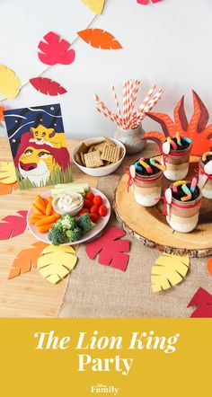 Hakuna matata — it means no worries! You won't have an ounce of stress planning your little one's Lion King party. From jungle-themed decor to sweet treats to Simba-approved crafts, your family and friends will have a roaring good time. Click to find out how to throw the most memorable DIY Lion King party ever. Lion Party, Lion King Party, Lion King Birthday, 1st Boy Birthday, 1st Birthday Parties, Kid Parties, Birthday Ideas, Hakuna Matata, Lion King Crafts