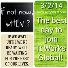 TODAY IS THE DAY! Right now is the perfect time to make a change. Could you use an extra couple hundred dollars a month? How about a $10,000 bonus? This is your chance to make a difference in your checkbook. We have a product people want and they can't get it anywhere else. Our steps are simple. Come run with us and change your pocketbook in the next 30,60,90 days!  #itworks #skinnywrap #tighten #tone #firm #workfromhome #beyourownboss #nowhiring #joinourteam #freeproduct #bonus #goodlife…