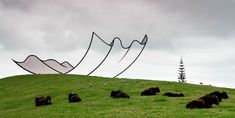 Neil Dawson - Amazing sculptures at Gibb's Farm sculpture park in New Zealand.
