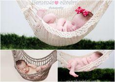 Mini Rede de Crochê para Newborn