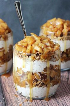 These caramel apple trifles are single serve and so tasty you aren't going to want to share.