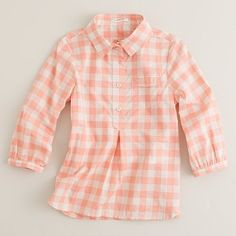 J. Crew Girls Gingham Shirt Yay for fitting into little girl clothes !