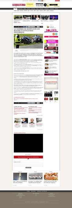 #AXANCE - #DIRECTMATIN #Website #redesign - #Article http://www.directmatin.fr/
