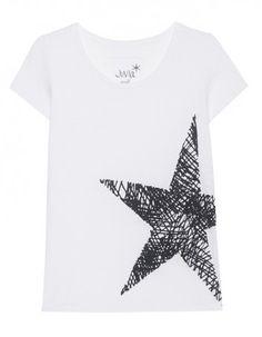 JUVIA Star Print Short White