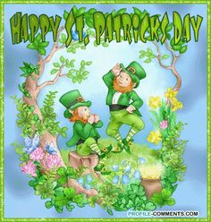 Patrick's Day is celebrated on March on the day of St. Patrick's death. Day filled with parades, shamrocks, Blarney Stone, and green colored beer. St Patricks Day Pictures, Happy St Patricks Day, Saint Patricks, Gif Animé, Animated Gif, Erin Go Bragh, Gifs, Clip Art, Glitter Graphics