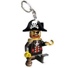 Chaveiro Lego com Luz Capitão Brickbeard