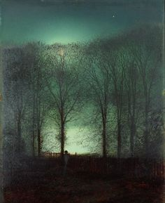 Moon by John Atkinson Grimshaw