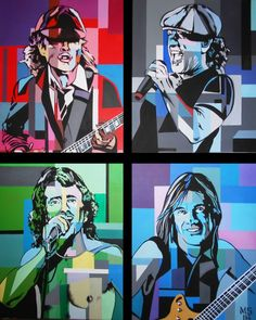 "Saatchi Art Artist Martin Georg Sonnleitner; Painting, ""AC/DC Pop Rock"" #art"