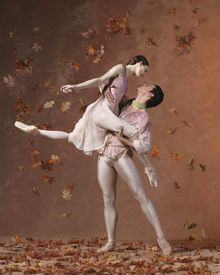 ABT's Julie Kent and Marcelo Gomez in the Leaves are Fading. Photo by Lois Greenfield. Breathtakingly lovely. Wish we could see this.