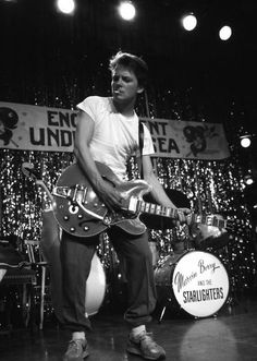 "GREATNESS - The Fox as Marty McFly rocking out to ""Johnny B. Goode"""