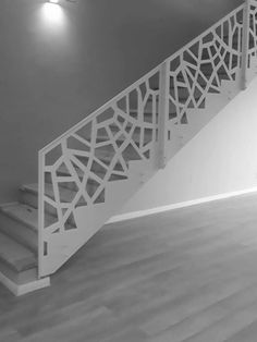 Rampa scara interioara cu balustrada metalica - Traforate.ro Modern Staircase Railing, Modern Stairs, Paint Bar, Design Case, Living Room Designs, My House, Modern Design, Sweet Home, Architecture