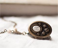 Brass locket necklace from Beauty Spot on #Etsy